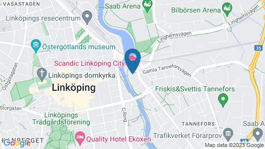 Scandic Linköping City Map