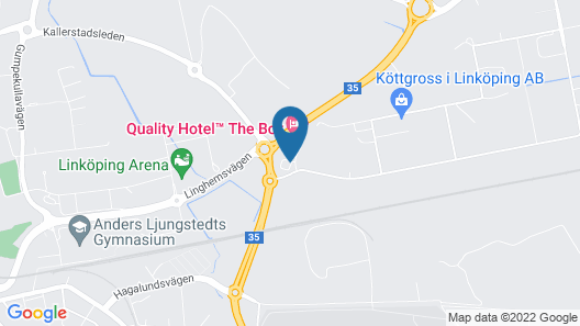 Quality Hotel The Box Map