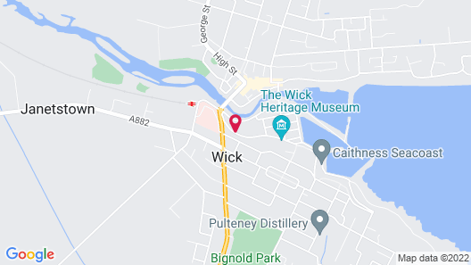Mackays Hotel Wick Map