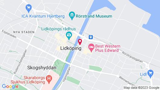 Stadt Hotell & Konferens Lidköping Map