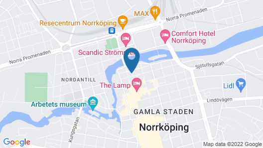 Elite Grand Hotel Norrköping Map