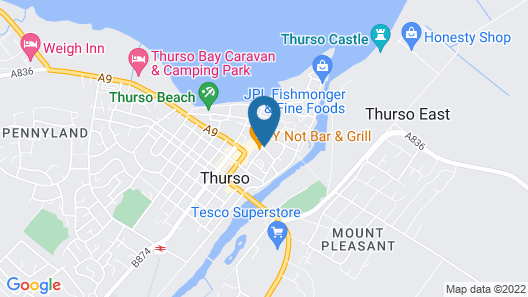 Thurso Self Catering Pet Friendly Holiday Lets Map