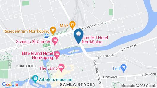 Comfort Hotel Norrköping Map