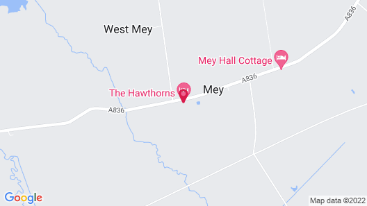 The Hawthorns Bed & Breakfast Map