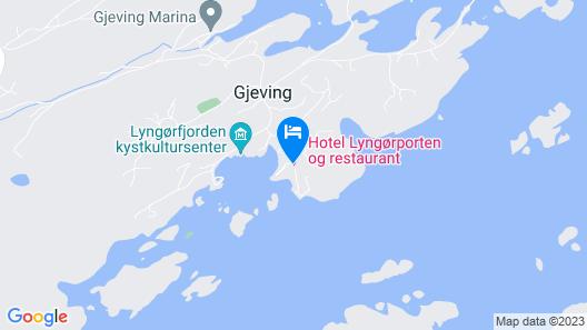 Hotel Lyngørporten Map