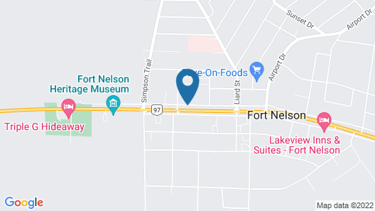 The Fort Nelson Hotel Map