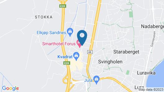 Smarthotel Forus Map