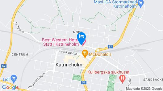 Best Western Hotel Statt Katrineholm Map
