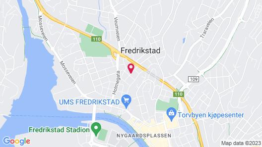 Fredrikstad sentrum Map