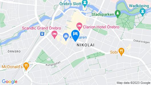 City Hotel Orebro Map