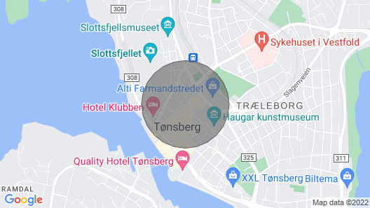 Deluxe Apartment in City Center of Tønsberg. Close to Everything Map