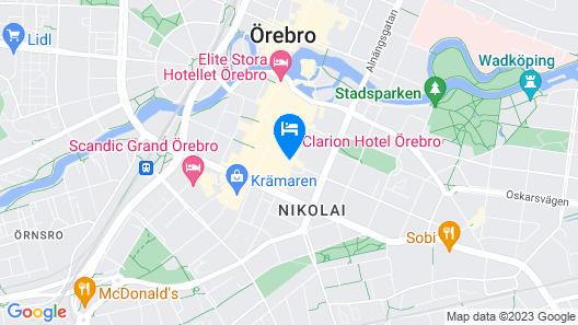 Clarion Hotel Örebro Map