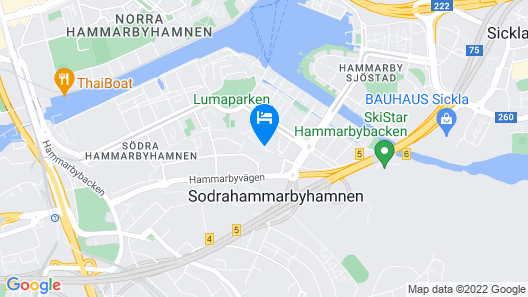 Biz Apartment Hammarby Sjostad Map