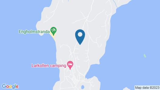 Larkollen vacation house Map