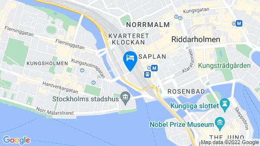 Radisson Blu Waterfront Hotel Map