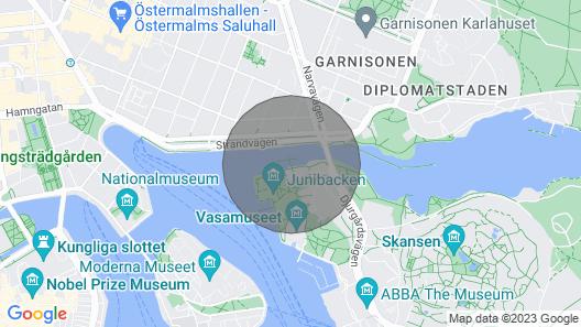 Luxury Yacht in Strandvägen Map