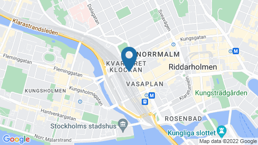 Comfort Hotel Xpress Stockholm Central Map