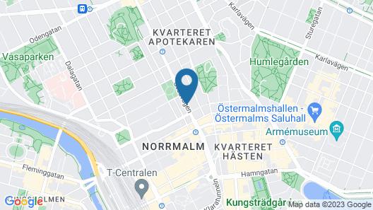 Hotel With Urban Deli Map