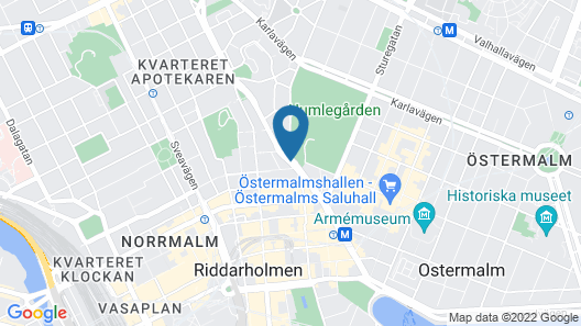 Elite Hotel Stockholm Plaza Map