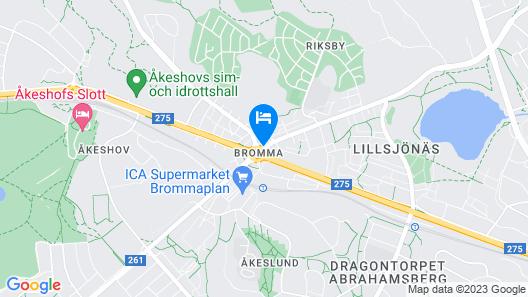 First Hotel Brommaplan Map
