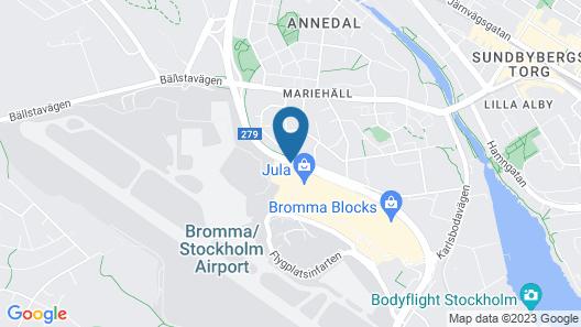 Best Western Plus Sthlm Bromma Map