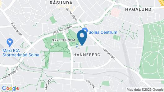 Park Inn by Radisson Stockholm Solna Map