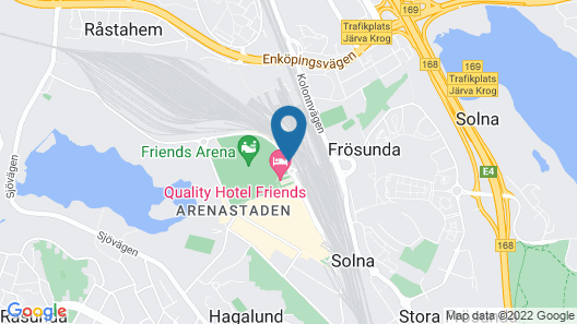 Quality Hotel Friends Map