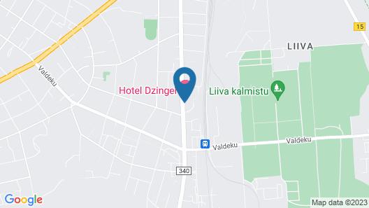 Hotel Dzingel Map