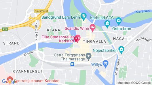 Elite Stadshotellet Karlstad Map