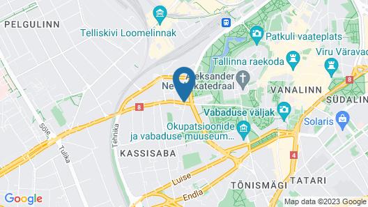 Park Inn by Radisson Meriton Conference & Spa Hotel Tallinn Map