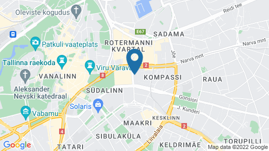 Tallink City Hotel Map