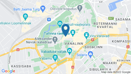 Hotel St Petersbourg Map