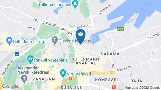 Tallinn Luxury Apartments with sauna and old town view Map