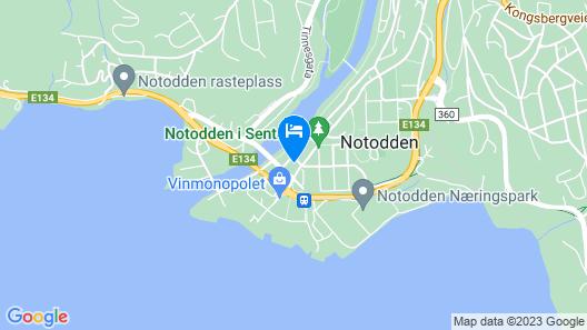 Notodden Sentrum Apartment No 1 Map