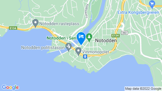 Notodden Sentrum Apartment No 2 Map