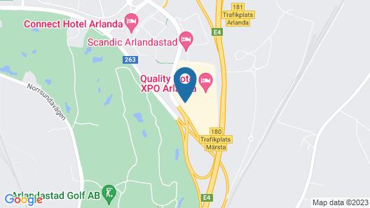 Quality Hotel Arlanda XPO Map