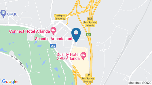 Scandic Arlandastad Map
