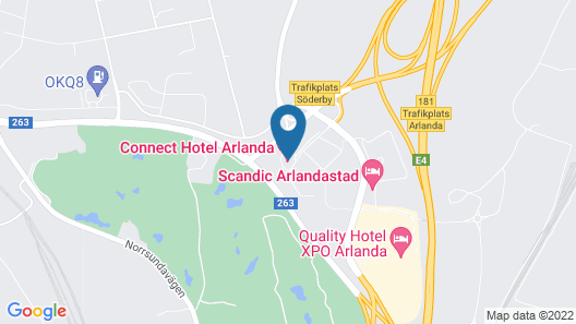 Connect Hotel Arlanda Map