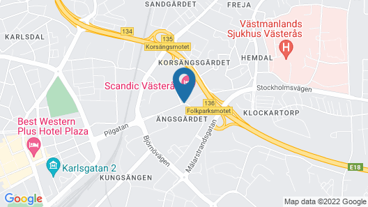 Scandic Västerås Map