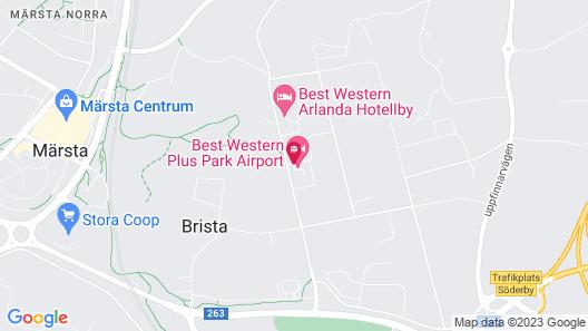 Best Western Plus Park Airport Hotel Map