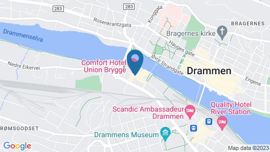 Comfort Hotel Union Brygge - Drammen Map