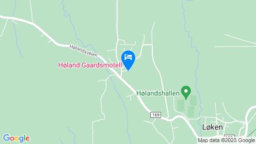 Høland Gaardsmotell  Map