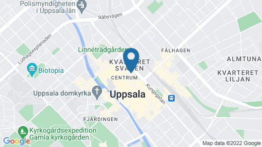 Uppsala City Hostel Map