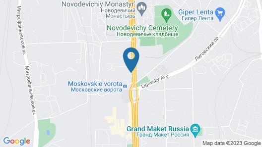 Holiday Inn St. Petersburg-Moskovskye Vorota Map