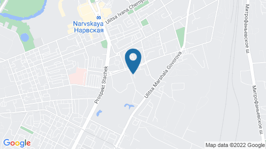Aleks Hotel on Narvskaya Map