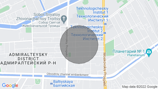apartments in centre of Saint-Petersburg Map