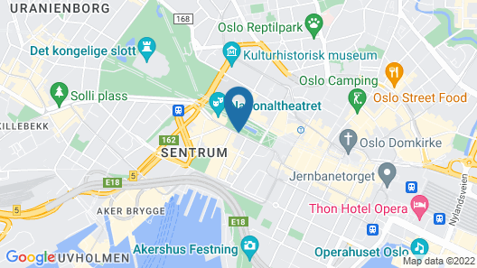 Hotel Christiania Teater Map