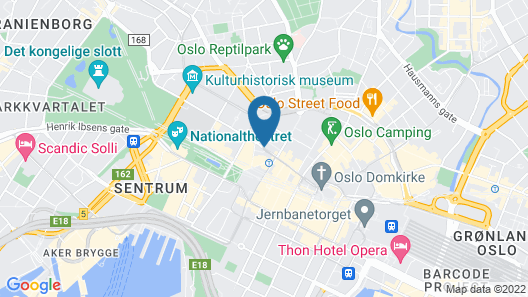 P-hotels Oslo Map
