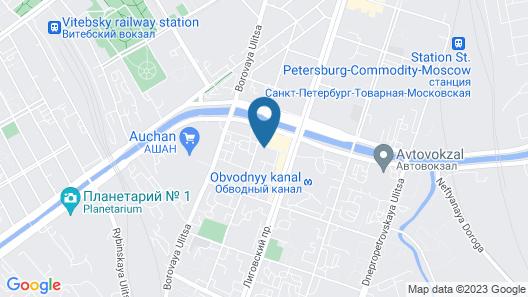 Biblioteka Obvodniy Hostel Map