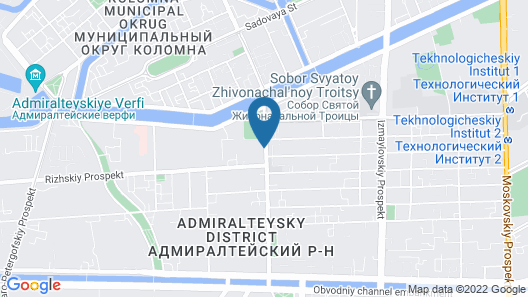 AZIMUT Hotel St. Petersburg Map